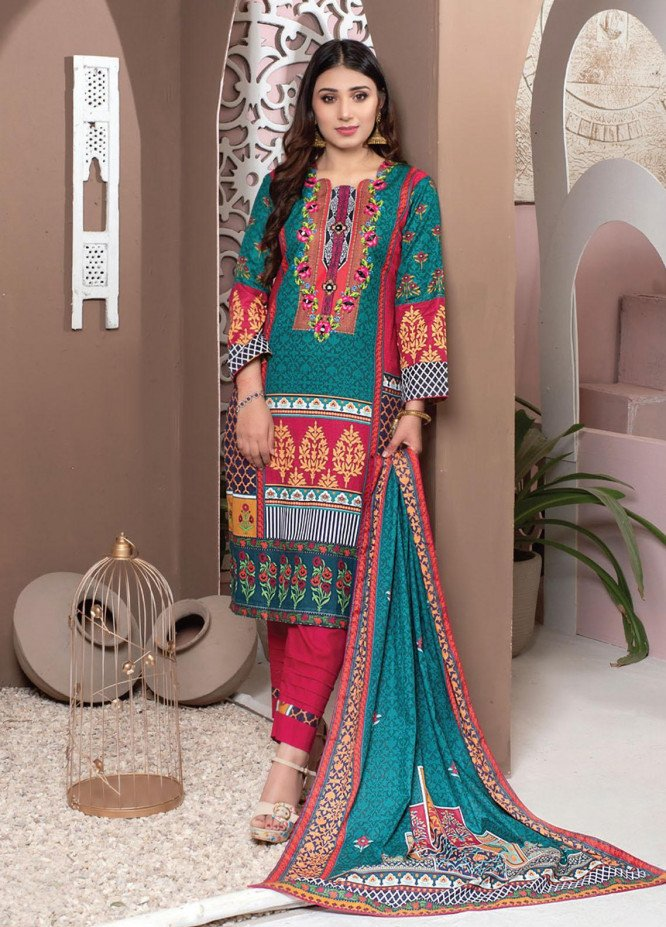 Casual Cool By MTF Printed Lawn Suits Unstitched 3 Piece MTF21CC 12 - Summer Collection