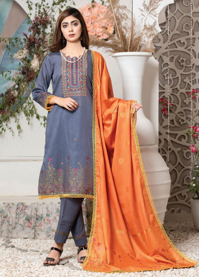 Imperial by MTF Embroidered Lawn Suits Unstitched 3 Piece MTF21I 03 - Summer Collection