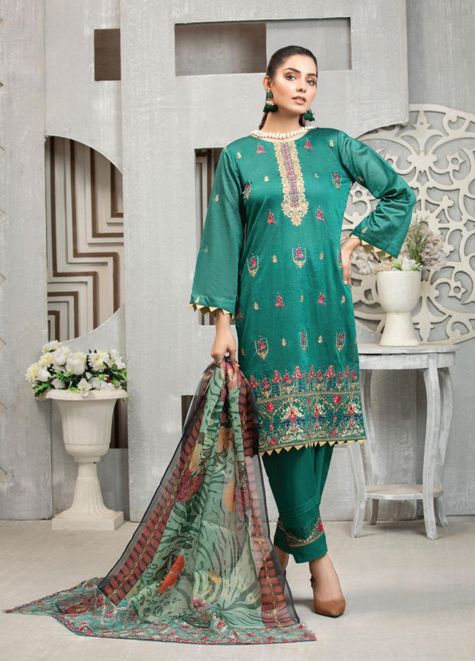 Carnation By MTF Embroidered Lawn Suits Unstitched 3 Piece MTF21C 01 - Summer Collection