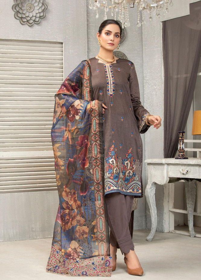 Carnation By MTF Embroidered Lawn Suits Unstitched 3 Piece MTF21C 04 - Summer Collection