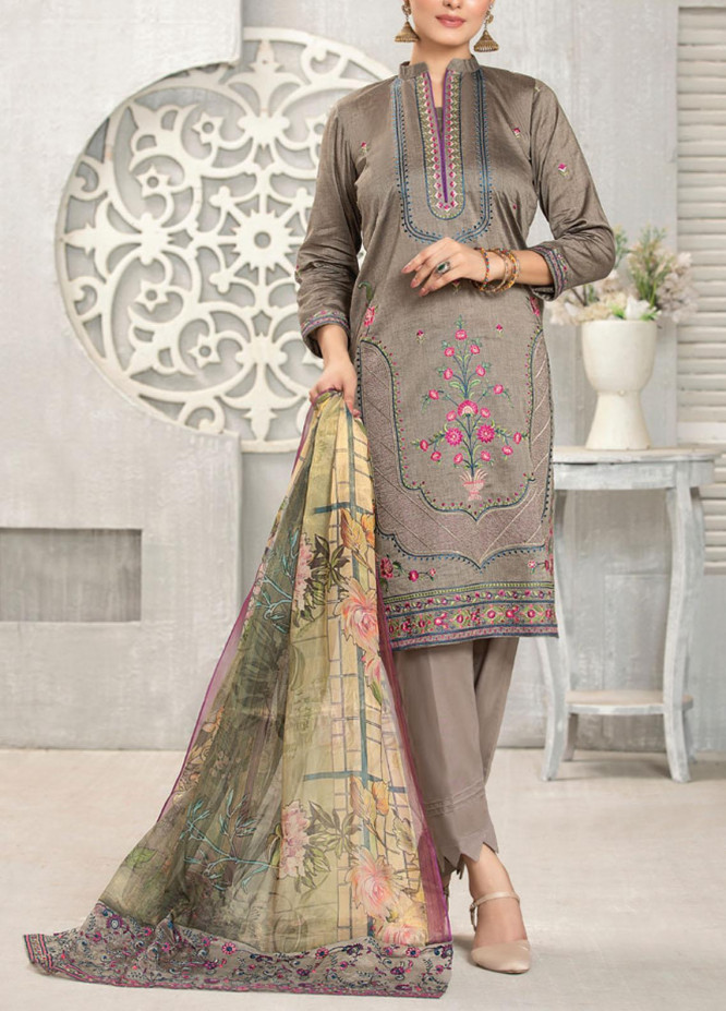 Carnation By MTF Embroidered Lawn Suits Unstitched 3 Piece MTF21C 06 - Summer Collection