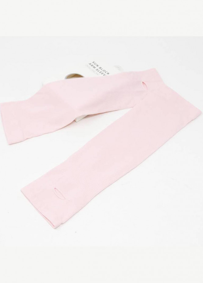 Mumuso SUN PROTECTION COOLING ARM SLEEVELETS -PINK