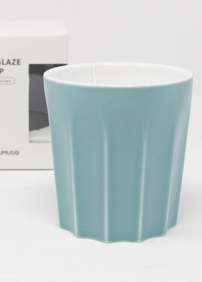 Mumuso COLOURED GLAZE CERAMIC CUP WITHOUT HANDLE-GREEN