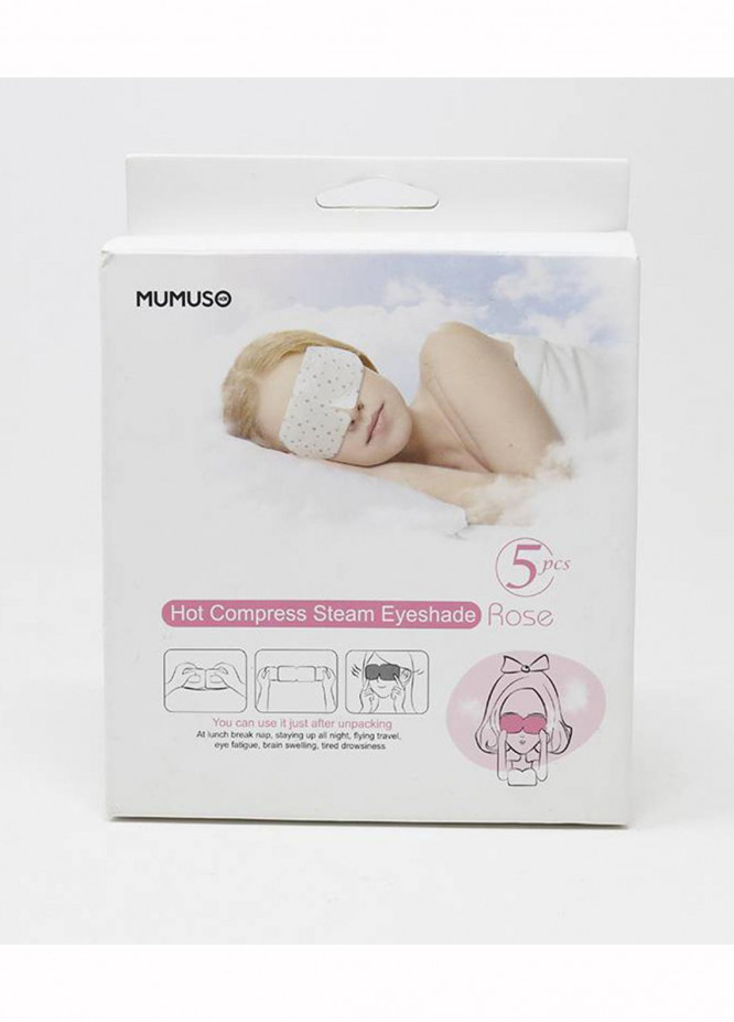 Mumuso Hot Compress Steam Eyeshade(5 Pcs Rose)