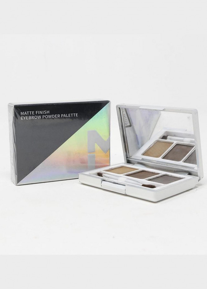 Mumuso MATTE FINISH EYEBROW POWDER PALETTE 02 BROWN GREY