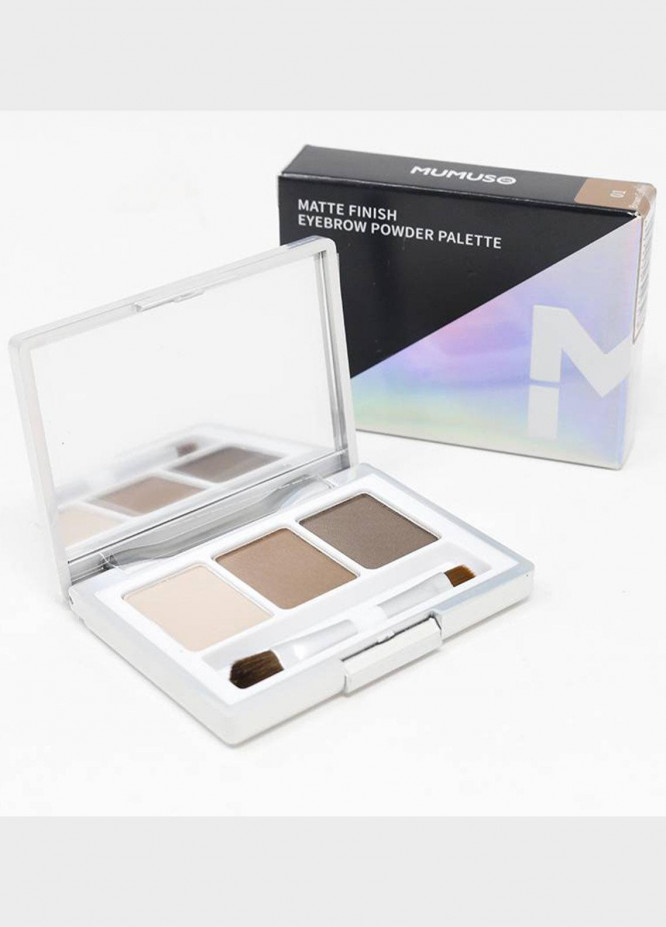 Mumuso MATTE FINISH EYEBROW POWDER PALETTE 01 BROWN COFFEE