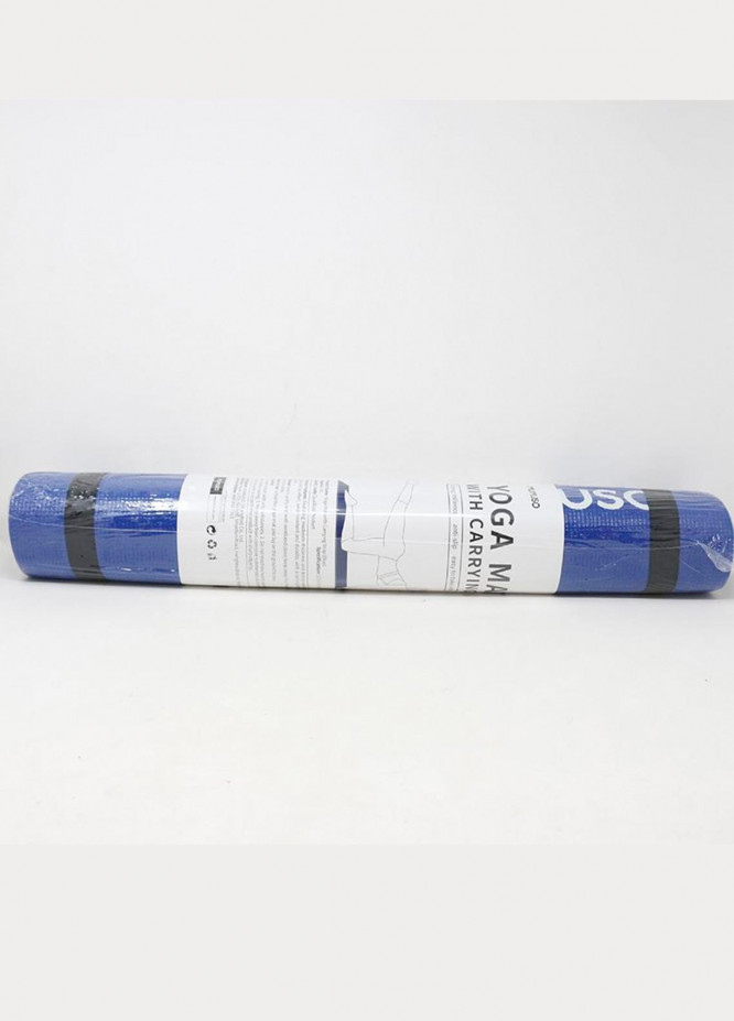 Mumuso Yoga Mat with Carrying Strap (Blue)