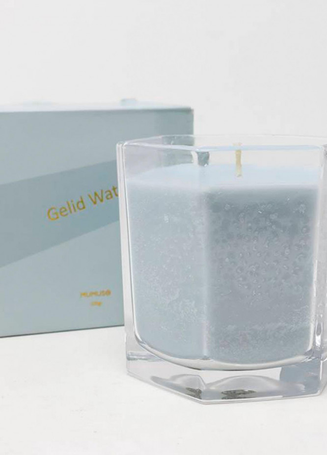 Mumuso HEXAGONAL SCENTED CANDLE-BLUE