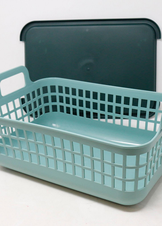 Mumuso HOLLOWED-OUT STORAGE BASKET (GREEN-S)