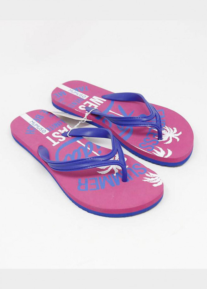 Mumuso Casual Style  Flat Flip Flop Rose Red