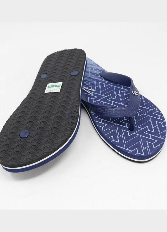 Mumuso Casual Style  Flat Flip Flop MEN-DARK BLUE