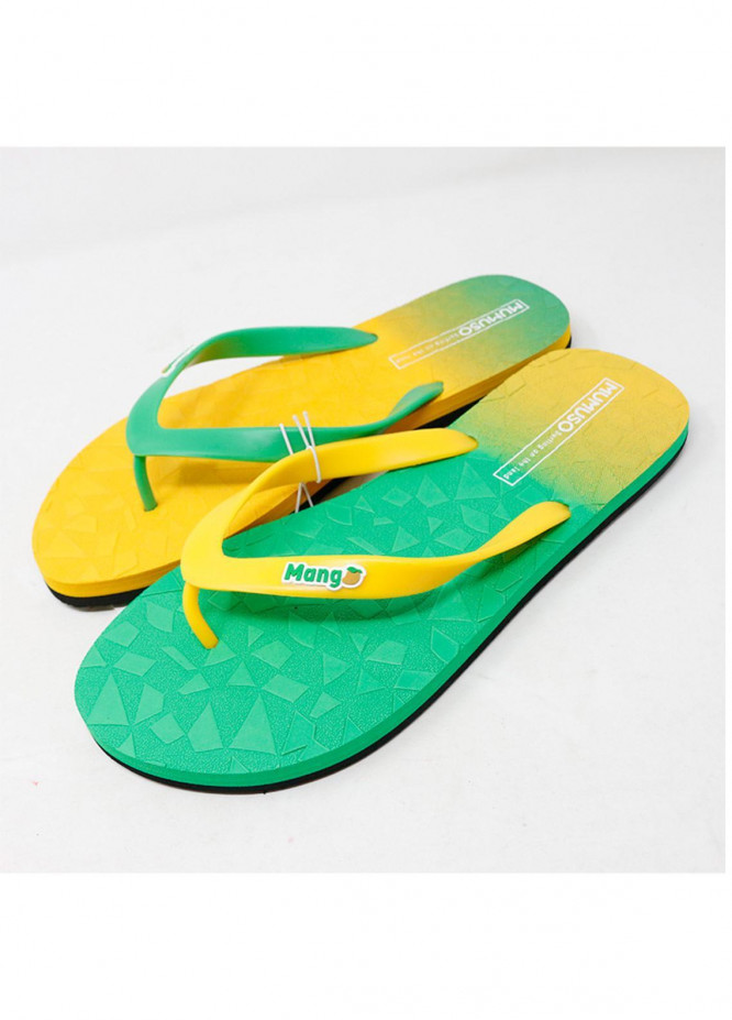 Mumuso Casual Style  Flat Flip Flop Yellow Green
