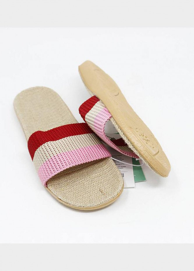 Mumuso Casual Style  Flat Slipper RED
