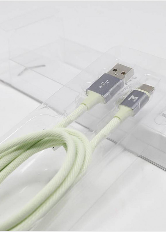 Mumuso TYPE-C FABRIC BRAIDED USB CABLE (2-1 A-GREEN)
