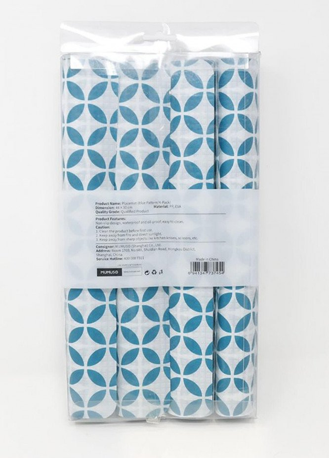 Mumuso PLACEMAT (BLUE PATTERN-4-PACK)