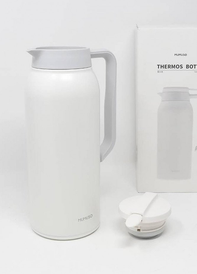 Mumuso THERMOS BOTTLE-1500ML-WHITE