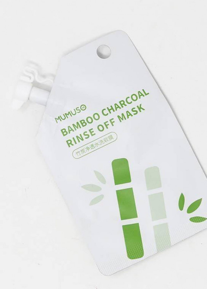 Mumuso Volcanic Mud Rinse Off Mask - Bamboo Charcoal Deep Cleansing Rinse Off Mask