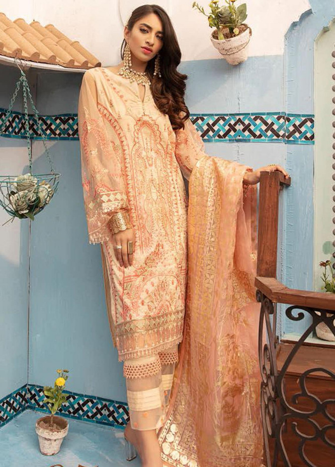 MusCari Embroidered Lawn Suits Unstitched 3 Piece MC21L MLC-05 - Summer Collection