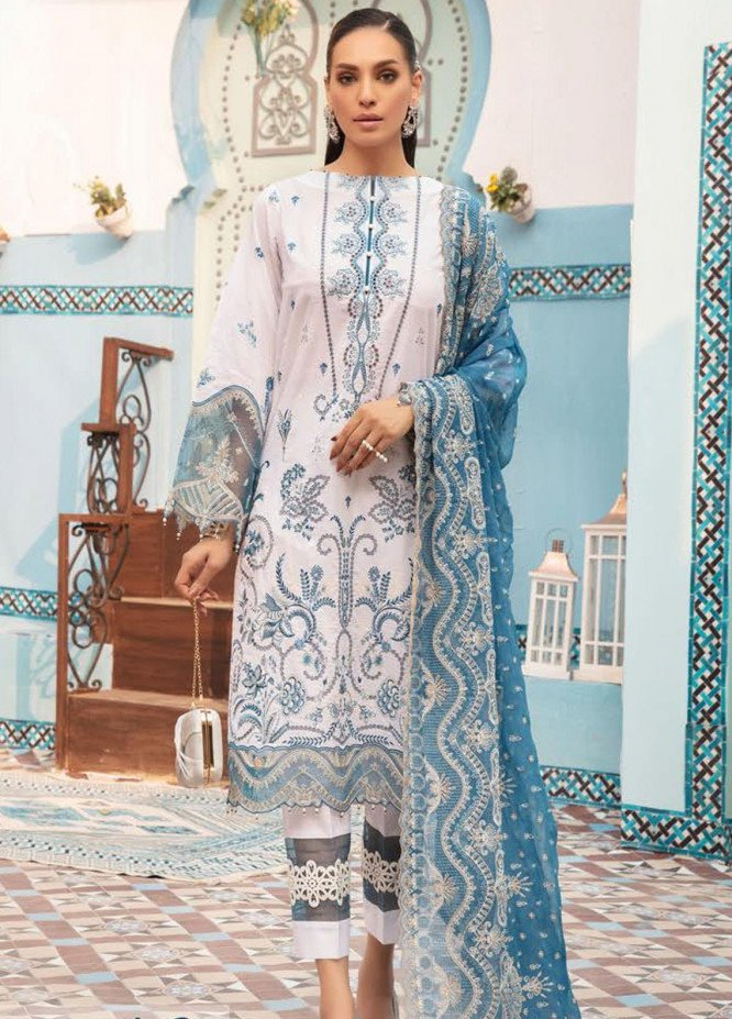 MusCari Embroidered Lawn Suits Unstitched 3 Piece MC21L MLC-10 - Summer Collection