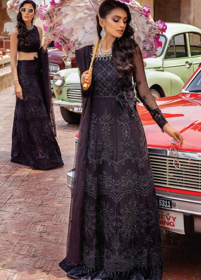 Mushq Embroidered Chiffon Suits Unstitched 3 Piece MQ21TK SDL21-04 RAAT RANI - Luxury Collection
