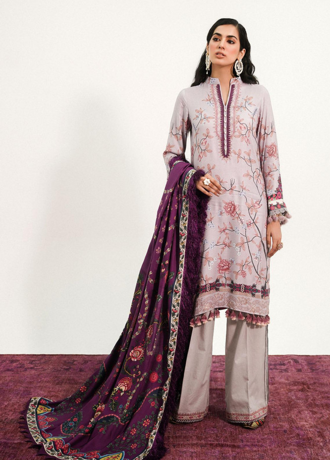 Muskaan By Nuriyaa Embroidered Linen Suits Unstitched 3 Piece NR21M AZEEN - Winter / Fall Collection