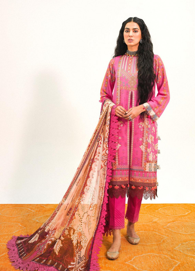 Muskaan By Nuriyaa Printed Karandi Suits Unstitched 3 Piece NR21M MAREENA - Winter / Fall Collection