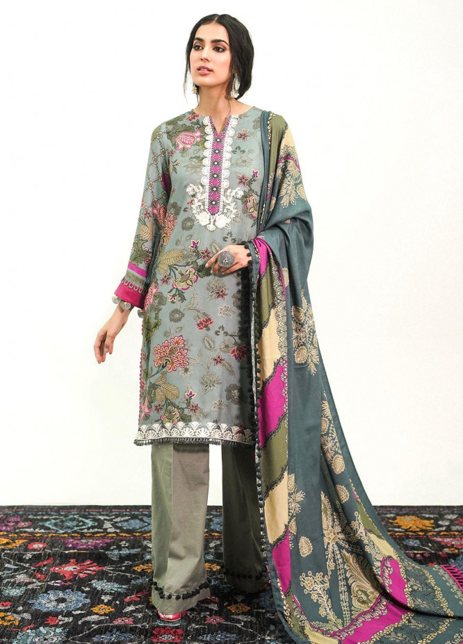 Muskaan By Nuriyaa Embroidered Linen Suits Unstitched 3 Piece NR21M NAGEEN - Winter / Fall Collection