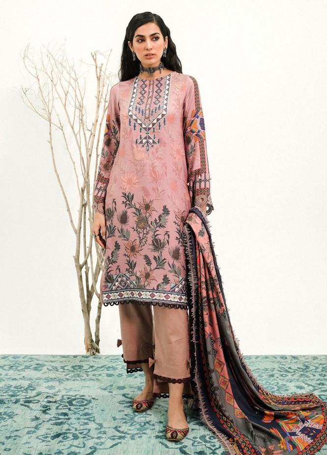Muskaan By Nuriyaa Embroidered Linen Suits Unstitched 3 Piece NR21M SUMBUL - Winter / Fall Collection