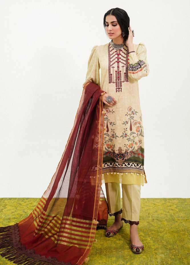 Muskaan By Nuriyaa Embroidered Linen Suits Unstitched 3 Piece NR21M YAMNA - Winter / Fall Collection