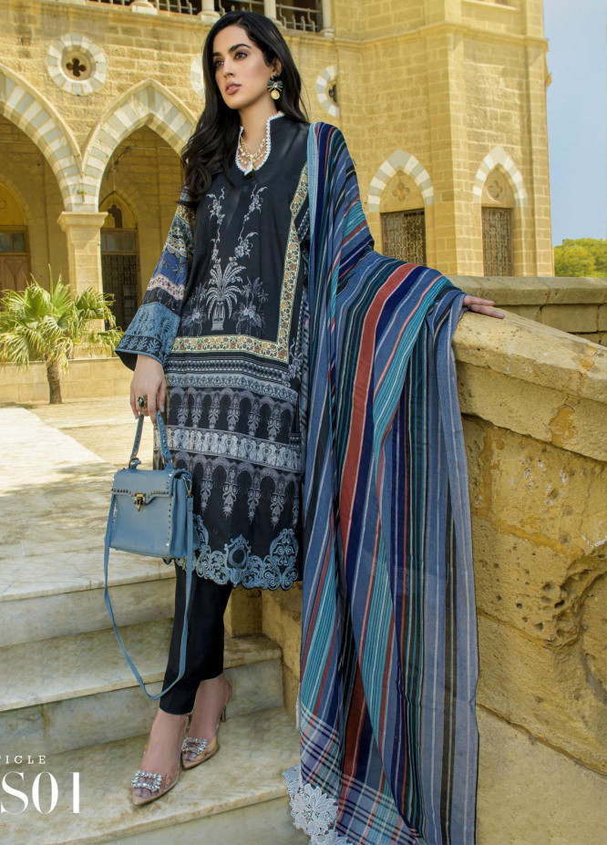 Mystique Embroidered Lawn Suits Unstitched 3 Piece MYS21SS 01 - Spring / Summer Collection