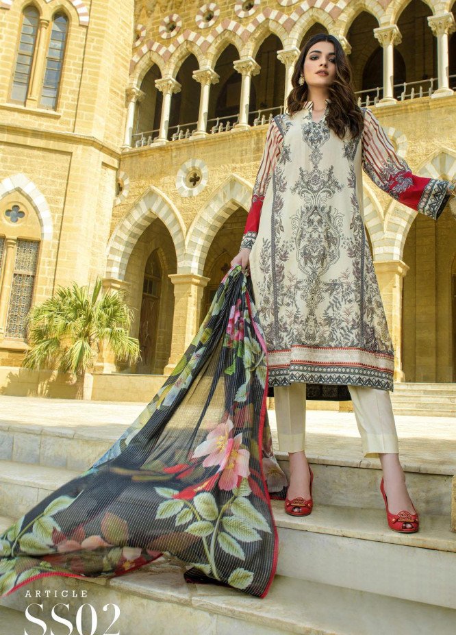 Mystique Embroidered Lawn Suits Unstitched 3 Piece MYS21SS 02 - Spring / Summer Collection