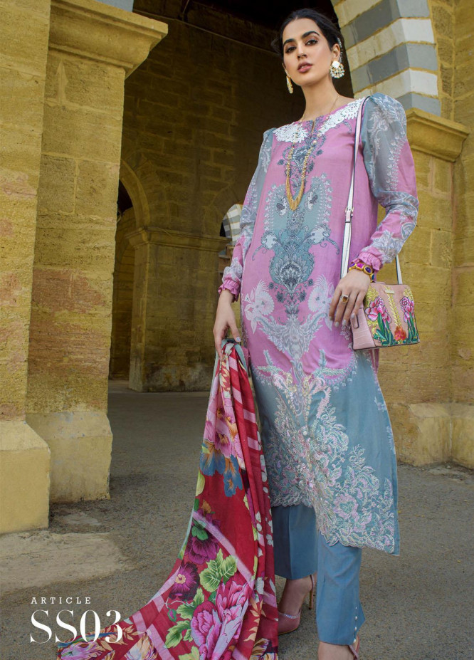Mystique Embroidered Lawn Suits Unstitched 3 Piece MYS21SS 03 - Spring / Summer Collection