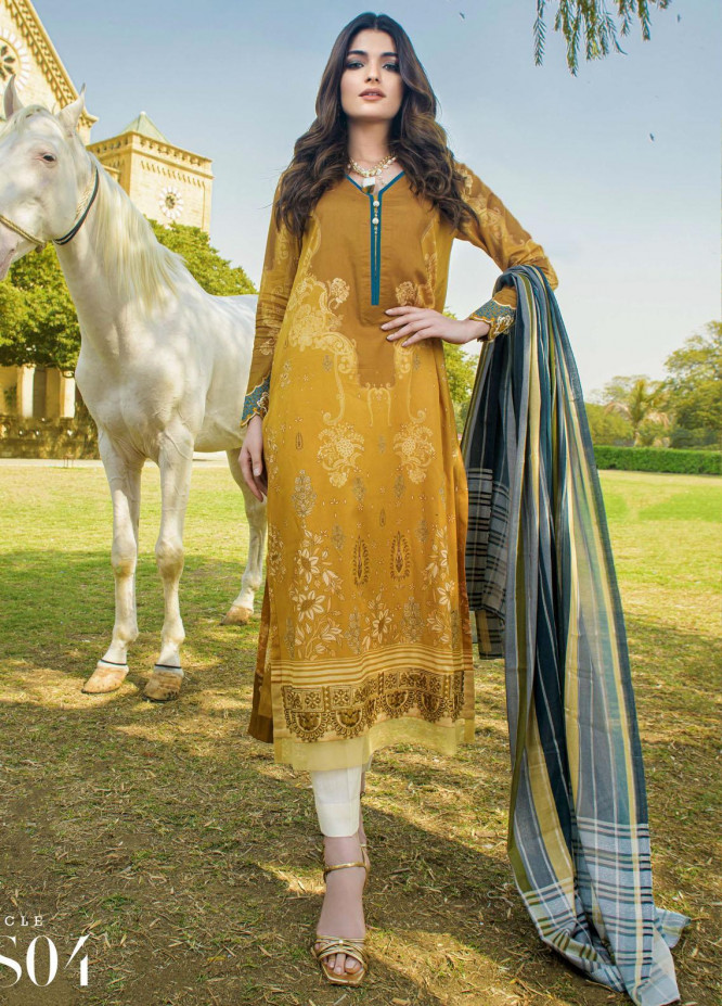 Mystique Embroidered Lawn Suits Unstitched 3 Piece MYS21SS 04 - Spring / Summer Collection