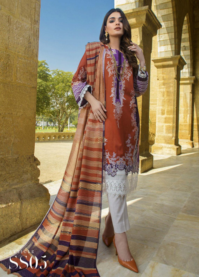 Mystique Embroidered Lawn Suits Unstitched 3 Piece MYS21SS 05 - Spring / Summer Collection
