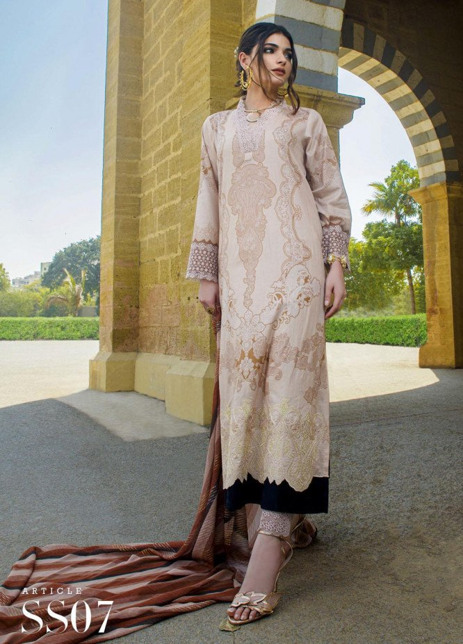 Mystique Embroidered Lawn Suits Unstitched 3 Piece MYS21SS 07 - Spring / Summer Collection