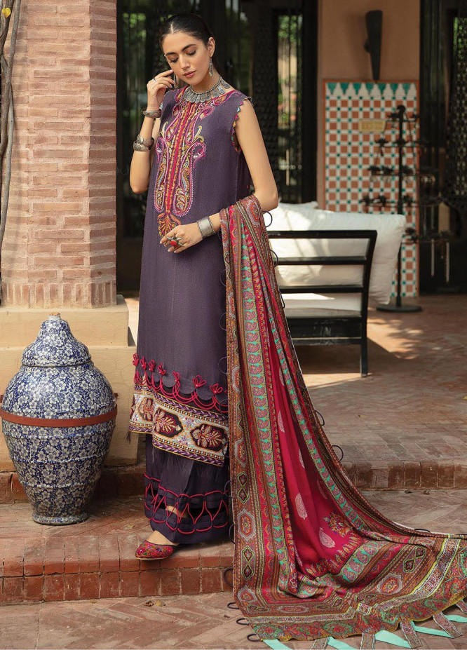 Naazaan Faixa Faixal by Ittehad Textiles Embroidered Slub Suits Unstitched 3 Piece IT21NF NZ-02 MASUMA - Winter Collection