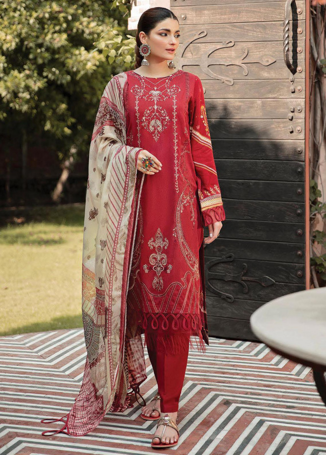 Naazaan Faixa Faixal by Ittehad Textiles Embroidered Slub Suits Unstitched 3 Piece IT21NF NZ-03 ZAIB-UN-NISA - Winter Collection