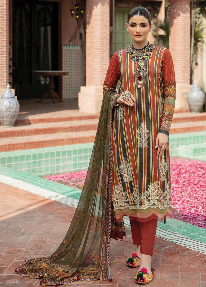 Naazaan Faixa Faixal by Ittehad Textiles Embroidered Viscose Suits Unstitched 3 Piece IT21NF NZ-04 IFFAT - Winter Collection