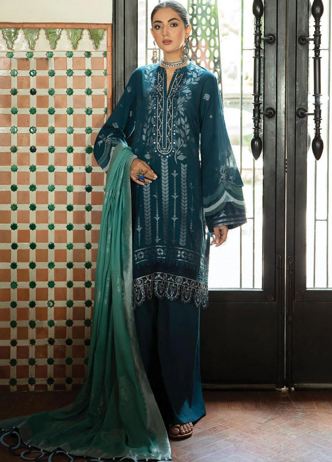 Naazaan Faixa Faixal by Ittehad Textiles Embroidered Cotton Jacquard Suits Unstitched 3 Piece IT21NF NZ-15 NUR-UN-NISA - Winter Collection