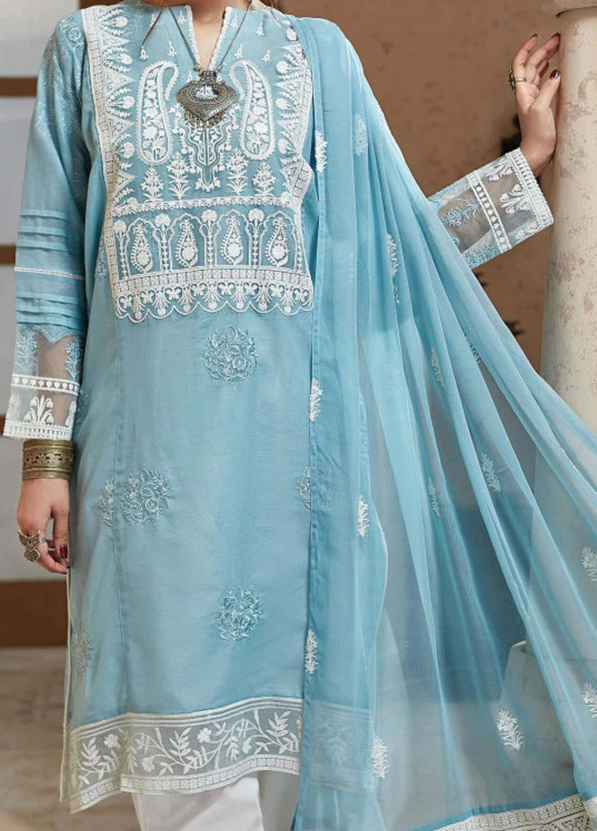 Nafasat by Resham Ghar Embroidered Lawn Unstitched 3 Piece Suit RG20N RGS-08 - Luxury Collection