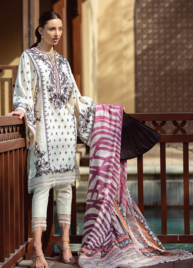 NERA by Farah Talib Embroidered Lawn Suits Unstitched 3 Piece FTA21N 05 Zwaar - Summer Collection