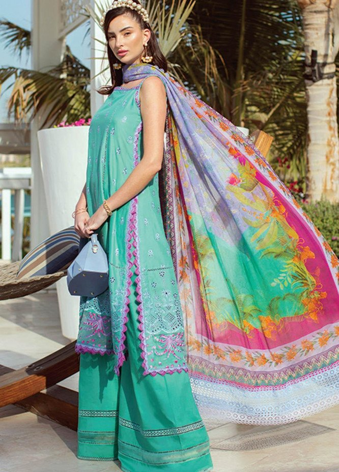 NERA by Farah Talib Embroidered Lawn Suits Unstitched 3 Piece FTA21N 07 Opal - Summer Collection