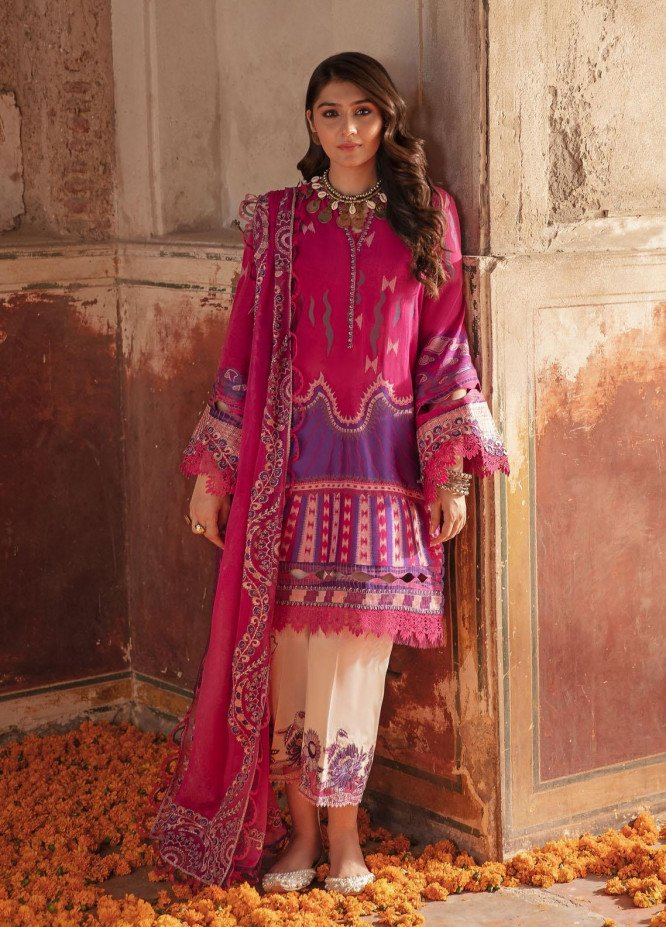 Nighat By Republic WomensWear Embroidered Lawn Suits Unstitched 3 Piece RW21N 03 - Spring / Summer Collection