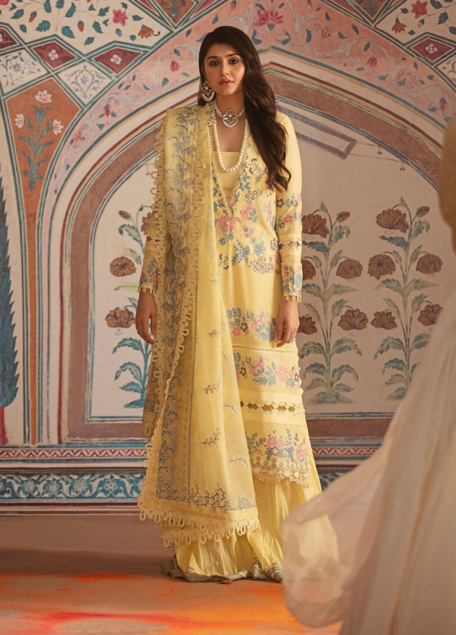 Nighat By Republic WomensWear Embroidered Lawn Suits Unstitched 3 Piece RW21N 04 - Spring / Summer Collection