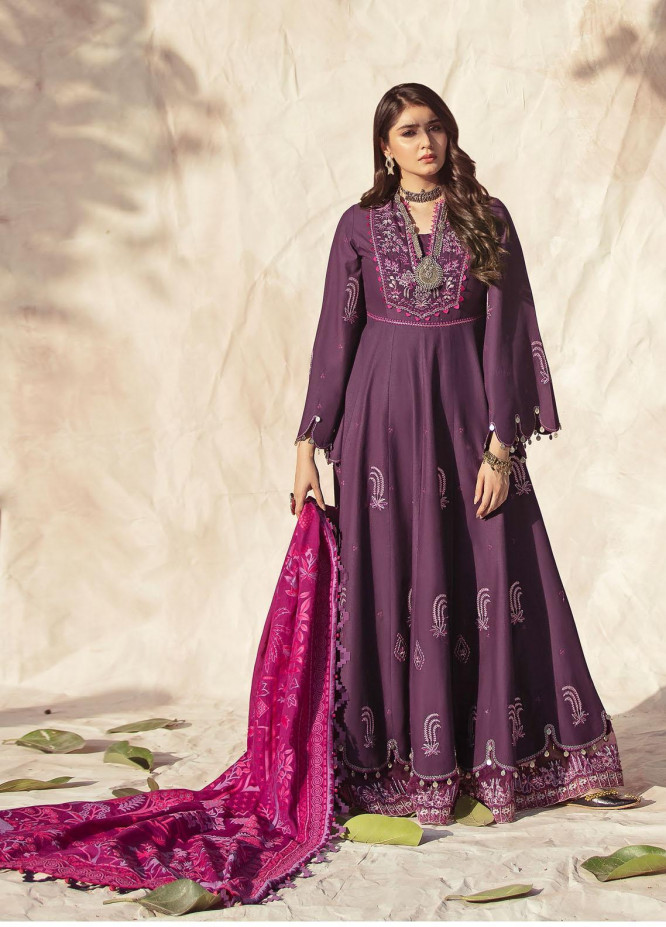 Nighat By Republic WomensWear Embroidered Lawn Suits Unstitched 3 Piece RW21N 05 - Spring / Summer Collection