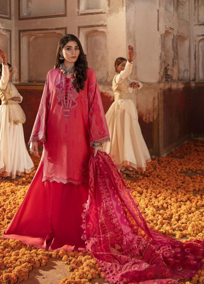 Nighat By Republic WomensWear Embroidered Lawn Suits Unstitched 3 Piece RW21N 08 - Spring / Summer Collection