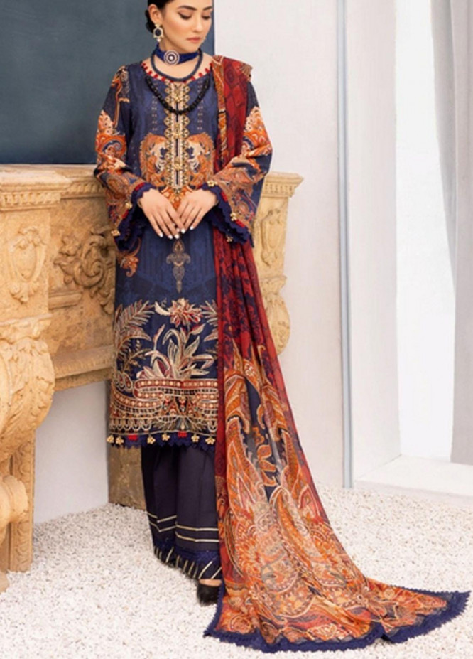 Nisa by Mohagni Embroidered Lawn Suits Unstitched 3 Piece MO21N MLA-21-04 - Summer Collection