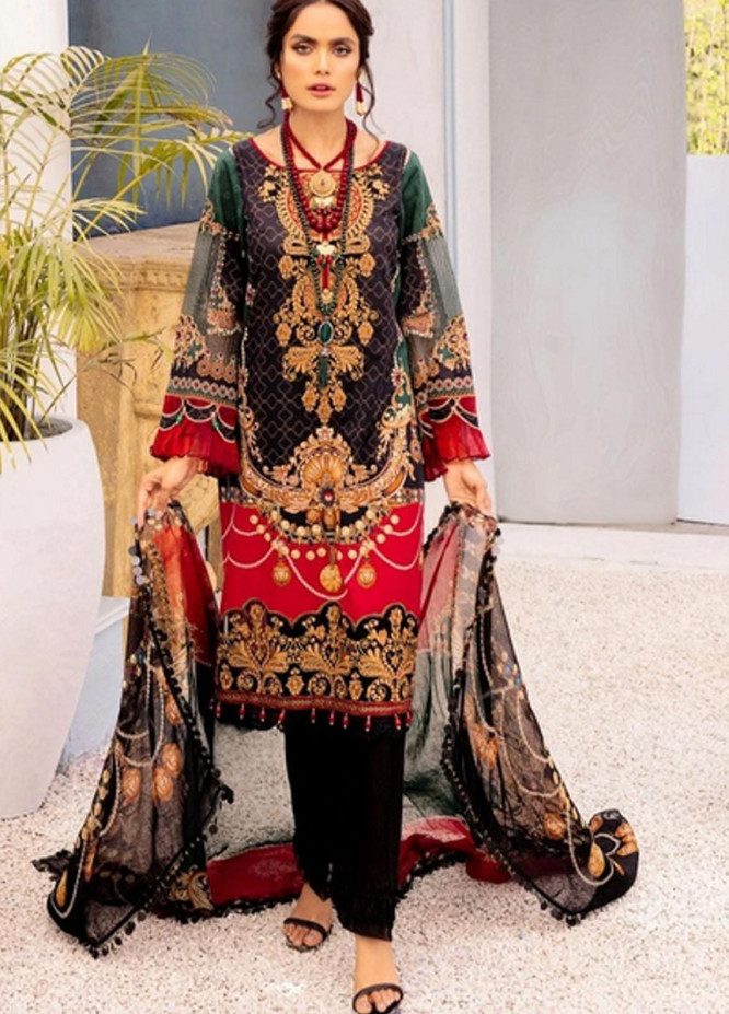 Nisa by Mohagni Embroidered Lawn Suits Unstitched 3 Piece MO21N MLA-21-10 - Summer Collection