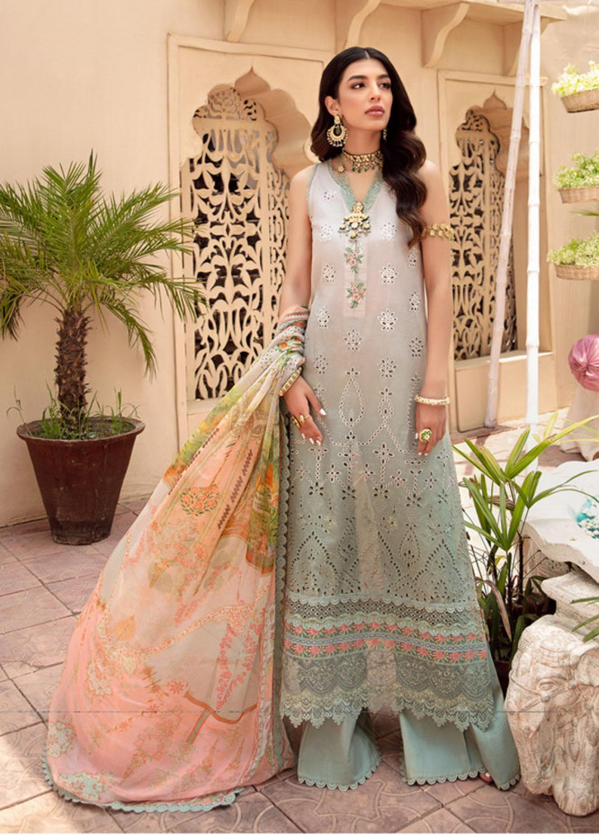 Noor by Saadia Asad Embroidered Lawn Suits Unstitched 3 Piece SA21-N2 03 - Summer Collection