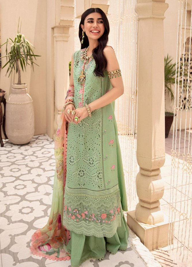 Noor by Saadia Asad Embroidered Lawn Suits Unstitched 3 Piece SA21-N2 04 - Summer Collection